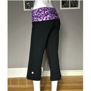 Lululemon Leggings crop purple floral